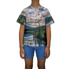 BANFF NATIONAL PARK 2 Kid s Short Sleeve Swimwear