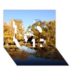 Autumn Lake Love 3d Greeting Card (7x5)  by trendistuff