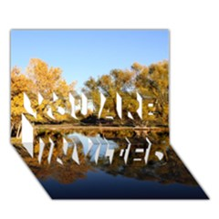 Autumn Lake You Are Invited 3d Greeting Card (7x5)  by trendistuff