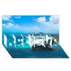 Whitehaven Beach 2 Believe 3d Greeting Card (8x4)