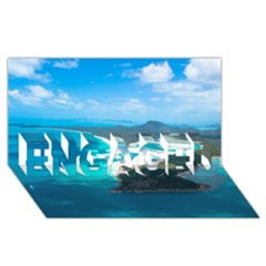 Whitehaven Beach 2 Engaged 3d Greeting Card (8x4)