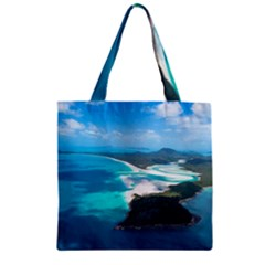 Whitehaven Beach 2 Zipper Grocery Tote Bags