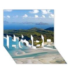 Whitehaven Beach 1 Hope 3d Greeting Card (7x5)  by trendistuff