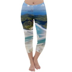 Whitehaven Beach 1 Capri Winter Leggings