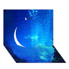 Underwater Trench Circle 3d Greeting Card (7x5)  by trendistuff