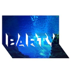 Underwater Trench Party 3d Greeting Card (8x4)  by trendistuff