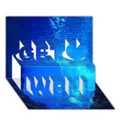 Underwater Trench Get Well 3d Greeting Card (7x5)  by trendistuff