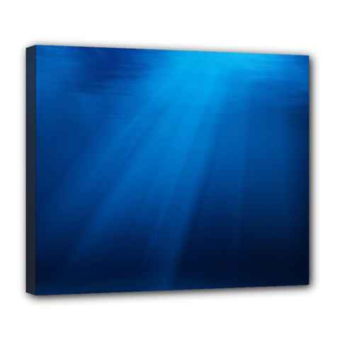 Underwater Sunlight Deluxe Canvas 24  X 20   by trendistuff