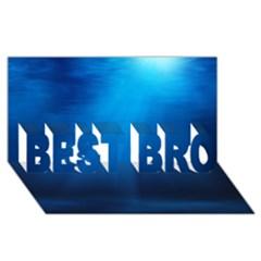 Underwater Sunlight Best Bro 3d Greeting Card (8x4)  by trendistuff