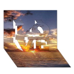 Tahitian Sunset Love 3d Greeting Card (7x5)  by trendistuff