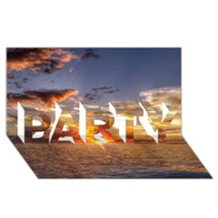 Tahitian Sunset Party 3d Greeting Card (8x4)  by trendistuff