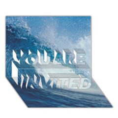 Ocean Wave 2 You Are Invited 3d Greeting Card (7x5)  by trendistuff