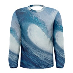 Ocean Wave 2 Men s Long Sleeve T Shirts by trendistuff