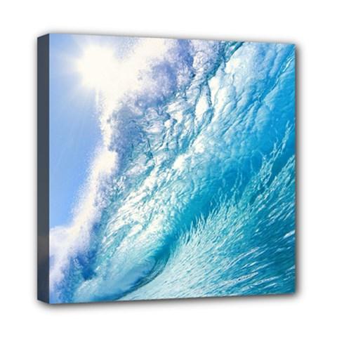 Ocean Wave 1 Mini Canvas 8  X 8  by trendistuff