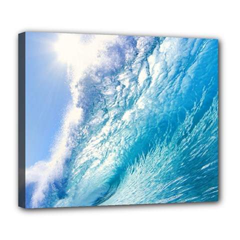Ocean Wave 1 Deluxe Canvas 24  X 20   by trendistuff