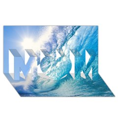 Ocean Wave 1 Mom 3d Greeting Card (8x4)  by trendistuff