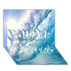 Ocean Wave 1 You Are Invited 3d Greeting Card (7x5)  by trendistuff