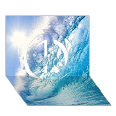 Ocean Wave 1 Peace Sign 3d Greeting Card (7x5)  by trendistuff
