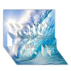 Ocean Wave 1 You Did It 3d Greeting Card (7x5)