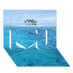 Ocean Island I Love You 3d Greeting Card (7x5)  by trendistuff