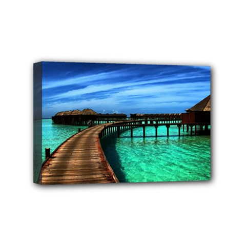 Maldives 2 Mini Canvas 6  X 4  by trendistuff
