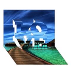 Maldives 2 Love 3d Greeting Card (7x5)  by trendistuff