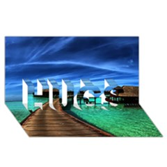 Maldives 2 Hugs 3d Greeting Card (8x4)  by trendistuff