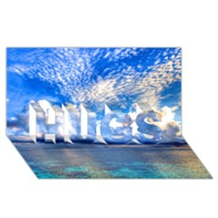 Maldives 1 Hugs 3d Greeting Card (8x4)  by trendistuff