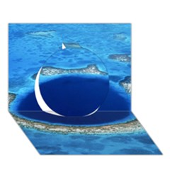 Great Blue Hole 2 Circle 3d Greeting Card (7x5)  by trendistuff