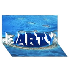 Great Blue Hole 2 Party 3d Greeting Card (8x4)  by trendistuff
