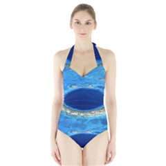 Great Blue Hole 2 Women s Halter One Piece Swimsuit