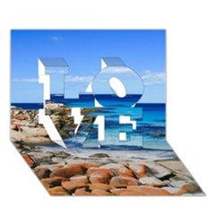 BAY OF FIRES LOVE 3D Greeting Card (7x5)  by trendistuff