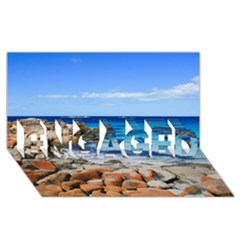 Bay Of Fires Engaged 3d Greeting Card (8x4)  by trendistuff