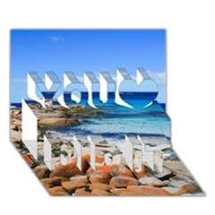 Bay Of Fires You Did It 3d Greeting Card (7x5)