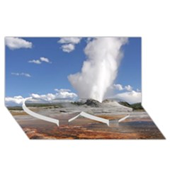 Yellowstone Castle Twin Heart Bottom 3d Greeting Card (8x4)