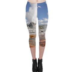 YELLOWSTONE CASTLE Capri Leggings by trendistuff
