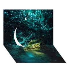Waitomo Glowworm Circle 3d Greeting Card (7x5)  by trendistuff