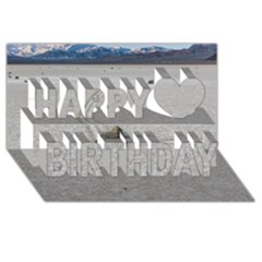 Sailing Stones Happy Birthday 3d Greeting Card (8x4)  by trendistuff