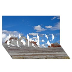 Petrified Forrest Tepees Sorry 3d Greeting Card (8x4)  by trendistuff