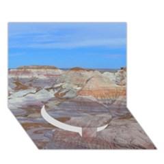 PAINTED DESERT Circle Bottom 3D Greeting Card (7x5)  by trendistuff