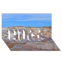 Painted Desert Hugs 3d Greeting Card (8x4)  by trendistuff