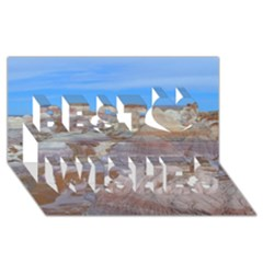 Painted Desert Best Wish 3d Greeting Card (8x4)  by trendistuff