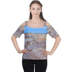 Painted Desert Women s Cutout Shoulder Tee by trendistuff