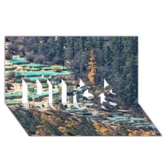 HUANGLONG POOLS HUGS 3D Greeting Card (8x4)  by trendistuff