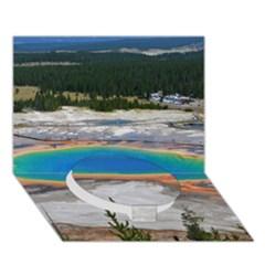 Grand Prismatic Circle Bottom 3d Greeting Card (7x5)  by trendistuff