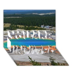 Grand Prismatic You Are Invited 3d Greeting Card (7x5)  by trendistuff