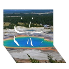 Grand Prismatic Clover 3d Greeting Card (7x5)  by trendistuff