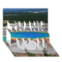 Grand Prismatic Thank You 3d Greeting Card (7x5)  by trendistuff