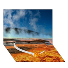Fire River Heart Bottom 3d Greeting Card (7x5)  by trendistuff