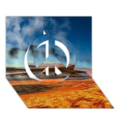 Fire River Peace Sign 3d Greeting Card (7x5)  by trendistuff